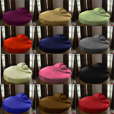 Round bed 3pc Fitted sheet Solid 1000TC Egyptian Cotton 15''Deep Pocket All Size