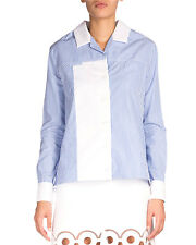 New Carven Collared Striped Long Sleeve Shirt New