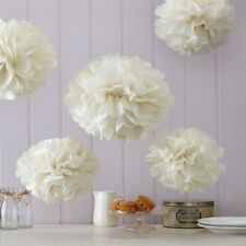 Ginger Ray Tissue Paper Pom Poms - Wedding Party MULTI COLOUR LISTING