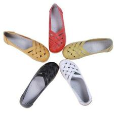 Casual Womens Leather Ballet Comfort Flats Shoes Oxfords Hollow Lady Loafers Lin