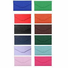 Fashion Solid Color Snap Fastener Cell Phone Envelope Clutch Wallet