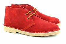 Roamers Unisex Suede Leather Lace-Up Ankle Desert Boots