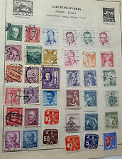 JOB LOT OF EARLY STAMPS ON PAPER CZECHOSLAVAKIA RARE USED STAMP POSTAL HISTORY