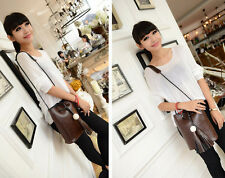 New Satchel Bag Messenger Tote Women Leather Crossbody Fashion Handbag Shoulder