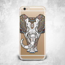 Elephant Art Thai Indian TPU Silicone Rubber Clear Case Cover Skin for iPhone