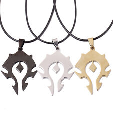 World of Warcraft The Horde Sign Stainless Steel Keychain Key Ring Pendant Gift