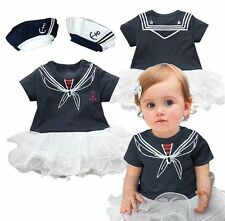 Baby Girl Sailor Halloween Fancy Dress Party Costume Outfit Tutu+HAT Set 00 0 1