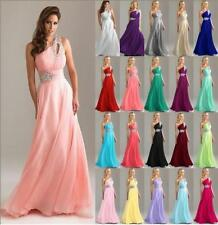 Long Chiffon Wedding Formal Evening Party Bridesmaid Ball Gown Prom Dress