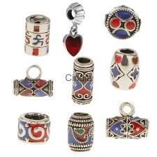 Vintage Pipe Beads Fit Bracelets Necklace Chinese Style Cloisonne Pipe Beads DIY