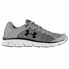Under Armour Micro Assert 6 Running Shoes Mens Grey/White Trainers Sneakers