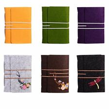5in1 Vintage Felt Wool Cover Kraft Embroidery Notebook Diary Travel Journal #AU