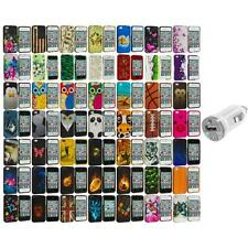 Design Hard Rubberized Color Snap-On Case Cover+USB Charger for iPhone 4 4S 4G