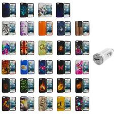 For iPhone 5S 5 5G Hard Snap-On Design Rubberized Case Cover Skin+USB Charger