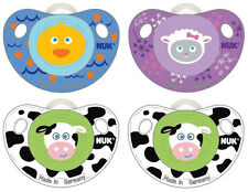 NIB New NUK Orthodontic Pacifier Silicone Animal 0-6 Month Baby Shower Gift BPA