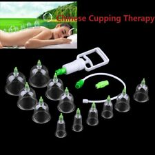Famous 6/12Cups Chinese Body Cupping Massage Acupuncture Medical Vacuum KG