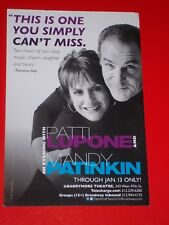 AN EVENING WITH PATTI LUPONE AND MANDY PATINKIN, 2011 Broadway Flyer