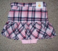 GYMBOREE GIRLS PANDA PINK PLAID SKIRT MULTIPLE SIZES MSRP$32.95 NEW WITH TAGS