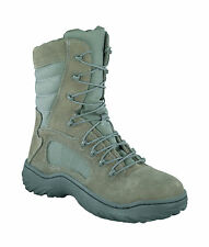 Reebok Mens Sage Green Suede Nylon Tactical Boots Fusion Max Steel Toe