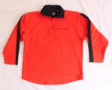 Boys GAP Pullover Shirt 1/3 Zip with Zip Pocket orange navy blue clothes L EUC