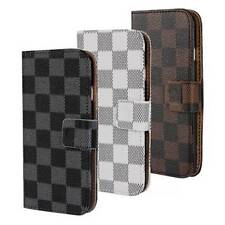 """Two Tone Lattice Style iPhone 6 4.7""""Wallet Leather Flip Pouch Case Cover NEW"""
