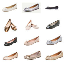 Women Round Toe Ballet Flats Glitter Bowknot Low Heel Pumps Shoes Casual Work
