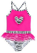 Wippette Baby Girls Big Zebra Heart Love Tutu Skirt Once Piece Swimsuit
