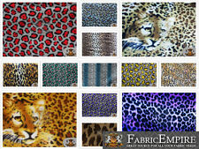 """Polar Fleece Printed Fabric LEOPARD 60"""" Wide Sold By the Yard"""