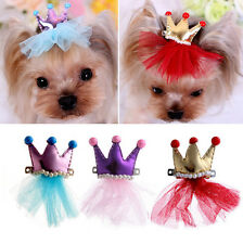 Hairpin Pet Grooming Dog Lace Hair Crown Hair Clips Princess Pet Bow Tie Bowknot