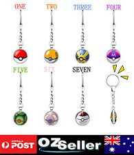 New Pokemon Go Key Chain Poké Ball Key Ring High Quality Jewelry Keychain