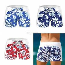 Men's Swim Boxer Trunks Shorts Swimwear Swimsuit Shorts Beach Pants Size S-XL