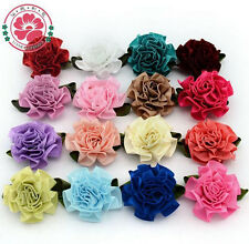 50-100PCS DIY Grosgrain Satin Ribbon Flower Appliques/Craft/Wedding Decorate
