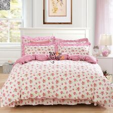 New Floral 100% Cotton Twin Full Queen King Size Duvet/Quilt Cover Bedding Set