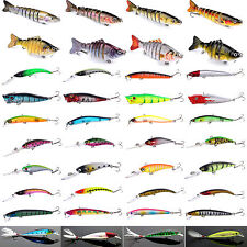 Fishing Lures Crankbait Sharp Hook Floating Rattles Bass Minnow Fish Bait Tackle