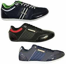 MENS NEW NICHOLAS DEAKINS DESIGNER TRAINERS BLACK NAVY SNEAKERS LACE UP STYLE