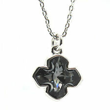 Crystal Silver Night Cross Pendant Necklace, Made with SWAROVSKI®Crystals.