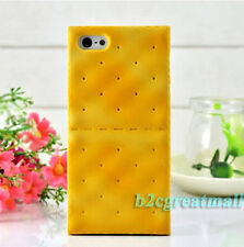 3D Cute Cookies Soda Biscuit Food Soft Silicone Cover Case For Iphone 4 4S