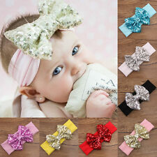 Cute Baby Girls Kids Hair Band Sequined Bow Headband Turban Knot Hair Headwear