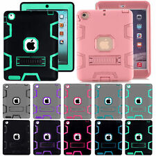 Shockproof Heavy Duty Rubber With Hard Stand Case Cover For iPad Mini 1/2/3