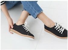 Ladies Women Sneakers Shoes Loafers Boats Flats Platform Casual Athletic Lace up