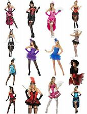 Womens Sexy Burlesque Fancy Dress Costume Cabaret Can Can Theme Hen Party Outfit