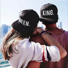 King Queen Snapback Pair Fashion Embroidered Snapback Caps Hip-Hop Hats