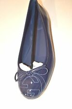 $495 Gucci Soho Ballerina Womens blue Leather Ballet Flats Shoes 339418