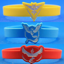 Pokemon Go Team Valor Mystic Instinct Wristband Silicone Bracelets Bangle Gifts