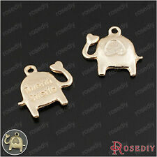 50PCS 15MM Baby elephant Charms Pendants Jewelry Findings Accessories 24836