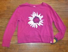 Life is Good Sweat Shirt BOLD PINK FLOWER DAISY Authentic Relaxed Fit Top