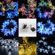 Outdoor Solar LED Butterfly String Fairy Light Garden Xmas Wedding Party Decor