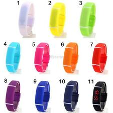 Mens Womens Watch Silicone LED Sport Bracelet Touch Digital Wrist Watch 11 Color