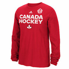 Canada Hockey 2016 World Cup Of Hockey Team Font Go To Long Sleeve T-Shirt (Red)