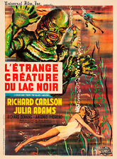 Creature From the Black Lagoon French 1962 Vintage Movie Poster