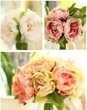 1 Bouquet Artificial Peony Silk Flower Hydrangea Wedding Bridal Party Home Decor